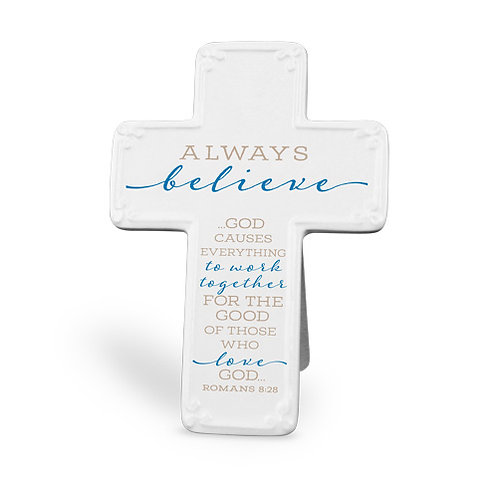 Ceramic Cross Always Believe