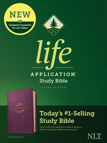 NLT Life Application Study Bible Third Edition Purple LeatherLike