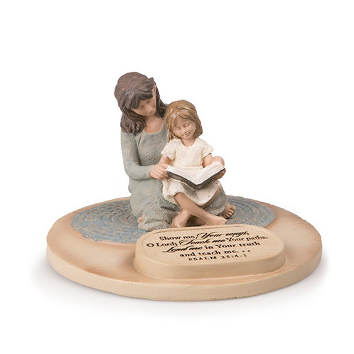 Devoted Mother with Daughter Figurine