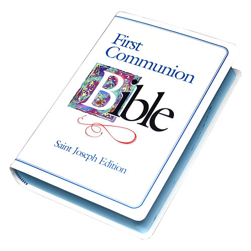 NABRE St. Joseph Edition First Communion Boy's Bible-White Flexicover