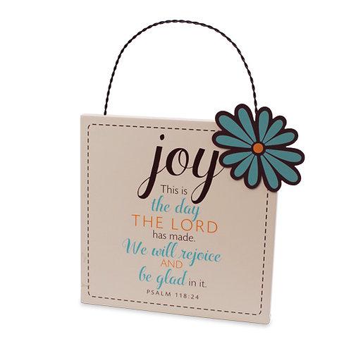 Joy w/Flower Plaque