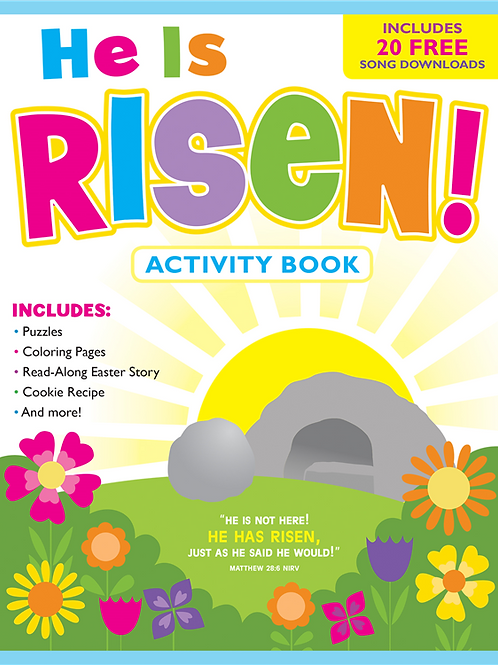 He Is Risen!  Activity Book and Free Music Downloa