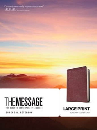 The Message The Bible In Contemporary Language Large Print