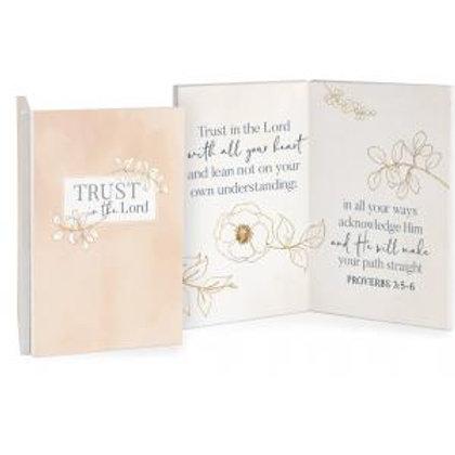 Trust In The Lord Keepsake Card