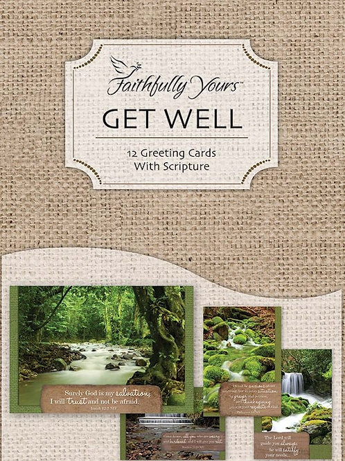 Boxed Cards Get Well Waterscapes by Faithfully Yours