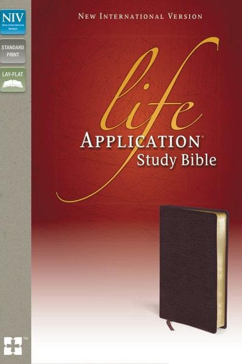 NIV Life Application Bible Burgundy Bonded Leather