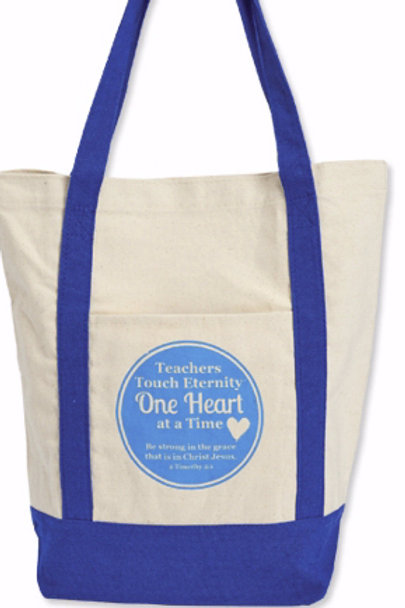Canvas Tote Bag-Teachers Touch Eternity (2 Timothy 2:1 KJV)
