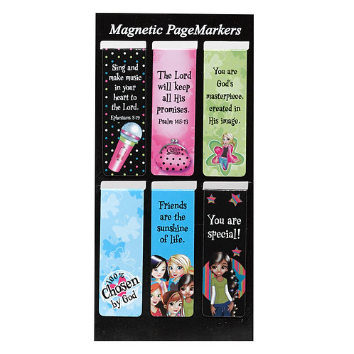 Little Miss Grace Magnetic PageMarkers #01 Set of 6