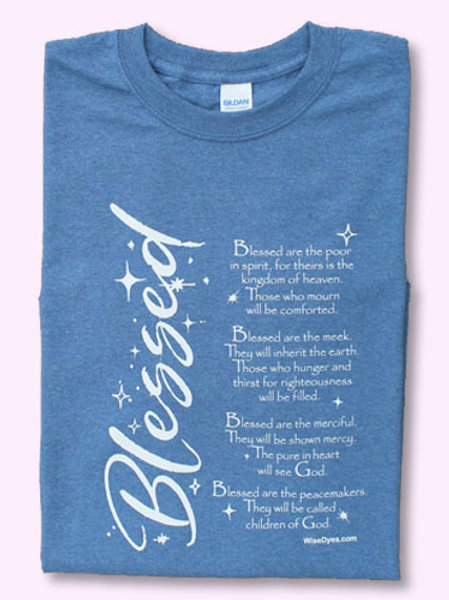 Blessed T-shirt Indigo Blue by Wise Dyes
