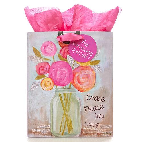 Grace, Peace, Joy, Love Medium Gift Bag