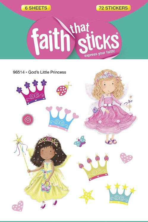 Faith That Sticks Princess Stickers