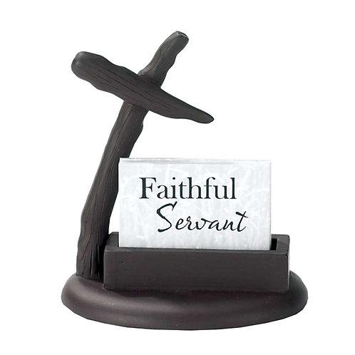 Faithbuilders Faithful Servant Card Holder