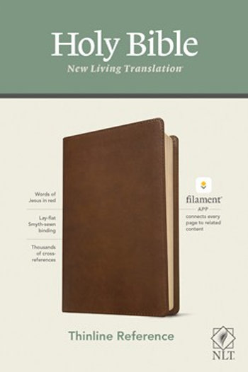 NLT Thinline Reference Bible Filament App Edition Brown