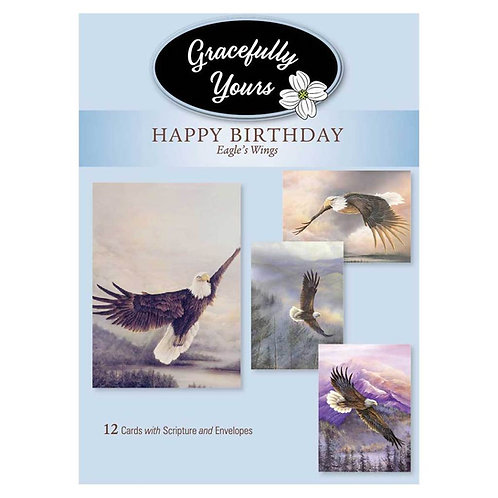 Gracefully Yours Eagles Wings Birthday Cards