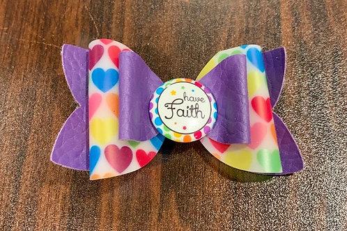 Have Faith Hair Bow