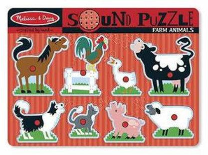 Farm Animals Sound Puzzle by Melissa/Doug