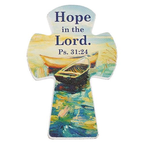 Cross Magnet Hope in The Lord