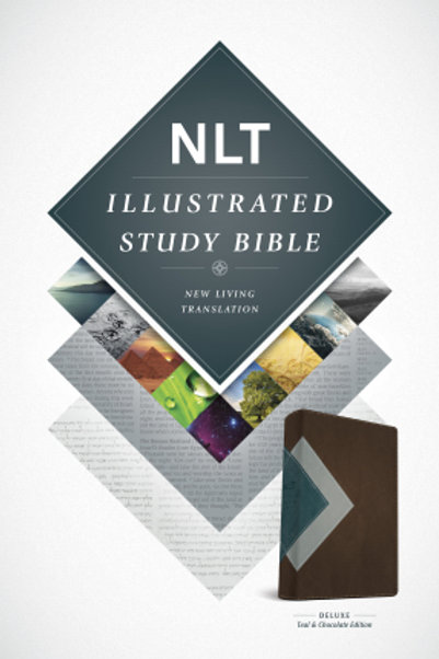 NLT Illustrated Study Bible-Teal/Chocolate TuTone