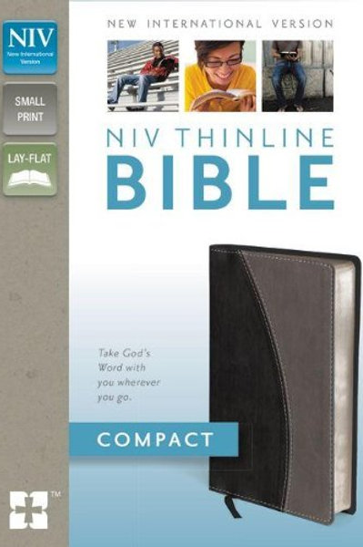 NIV Thinline Compact Bible Black and Gray