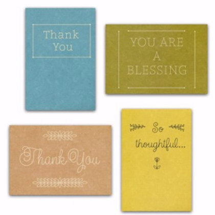 Boxed Cards Thank You Simply Stated