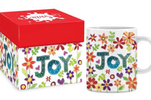 Joy Mug With Flowers