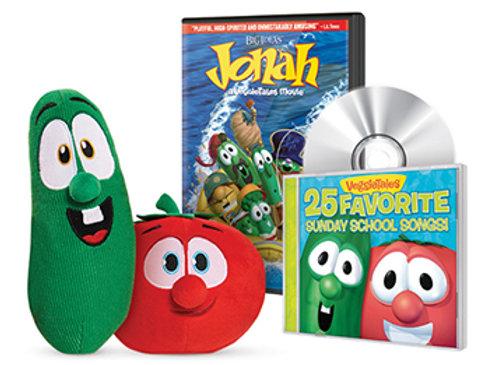 VeggieTales Plush DVD And CD Gift Set