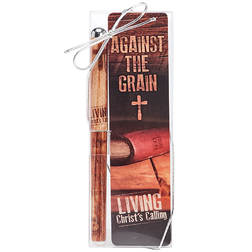 Against The Grain Pen and Bookmark Set 1 Peter 2:21 Living Christ's Calling Cross