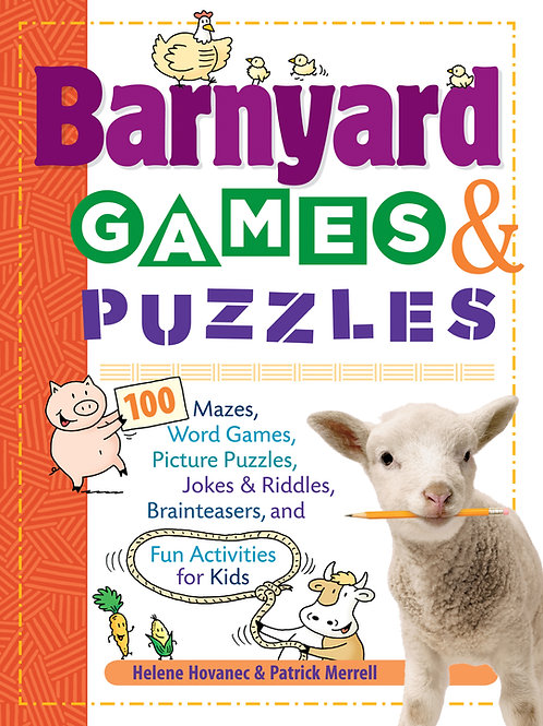 Barnyard Games & Puzzles 100 Mazes, Word Games, Picture Puzzles, Jokes and Riddl