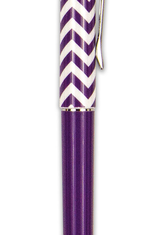 Purple and White Roller Pen