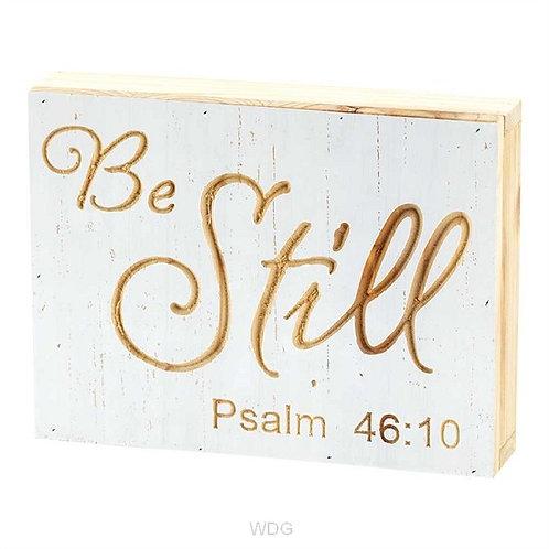 Be Still Wood Block Engraved