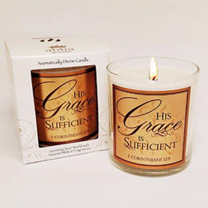 Candle Myrrh His Grace Is Sufficient
