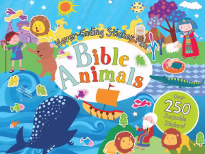 Bible Animals Reusable Stickers
