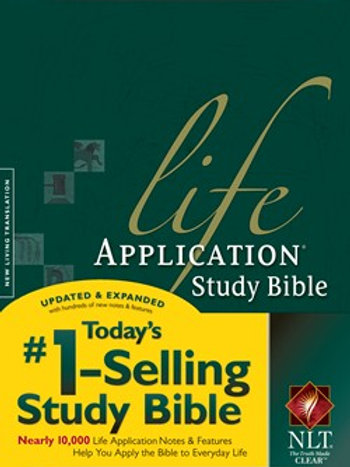 NLT Life Application Bible Thumb Indexed Hard Cover