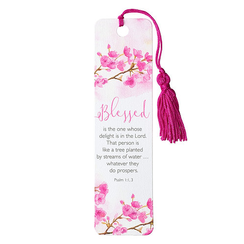 Blessed Bookmark with Tassel - Psalm 1:1-3