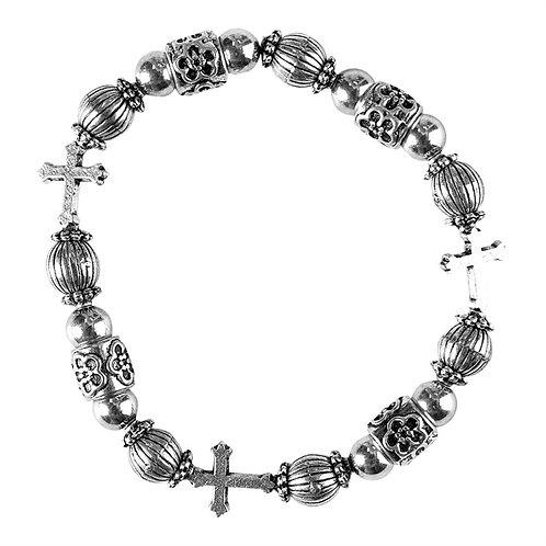 First Holy Communion Stretch Bracelet Pewter J-60