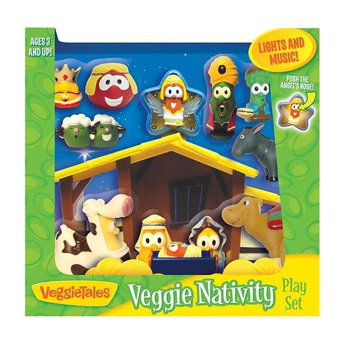 VeggieTales Nativity Scene Playset