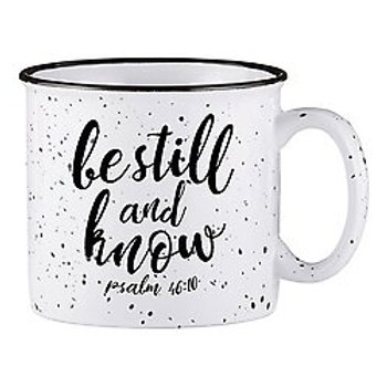 Be Still and Know White Campfire Mug