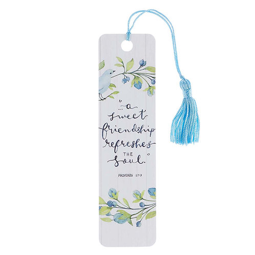 Sweet Friendship Bookmark with Tassel - Proverbs 27:9