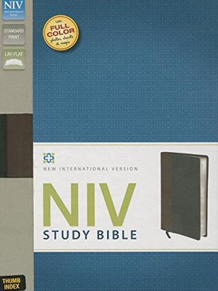 NIV Study Bible Chocolate and Black Indexed