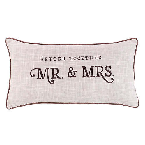 Better Together Mr. & Mrs. Rectangle Pillow