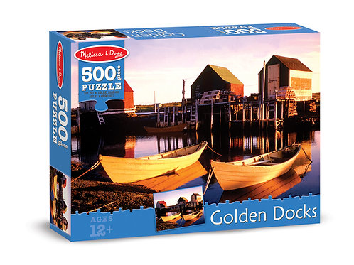 Golden Docks 500 Piece Puzzle
