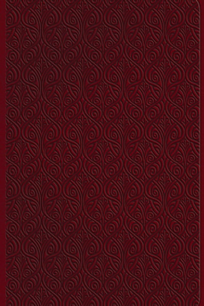 ESV Large Print Value Thinline Bible-Ruby Vine Design TruTone