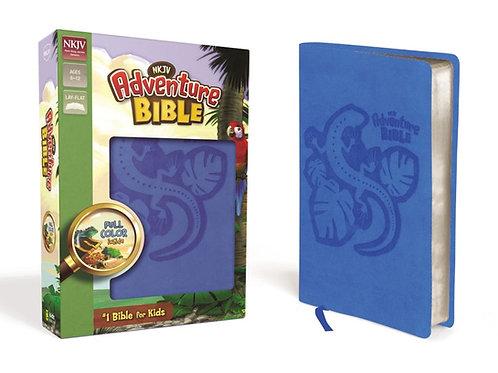 NKJV Adventure Bible Ocean Blue w/Lizard