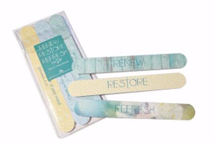 Emory Boards Renew Restore Refresh (Set of 3)
