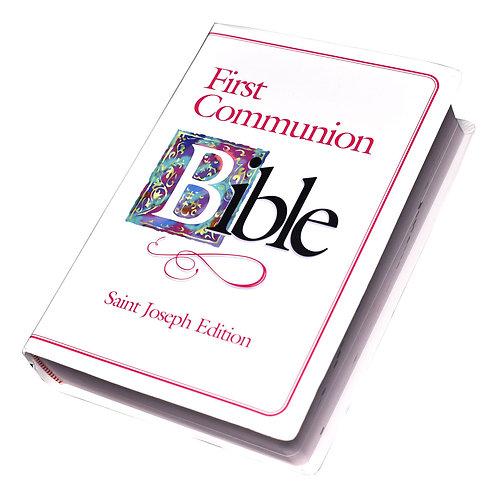 ST. JOSEPH FIRST COMMUNION BIBLE (N.A.B.R.E./Girls)