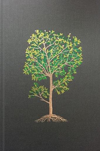 NLT Life Application Study Bible Deluxe Linen Hardcover Green Tree
