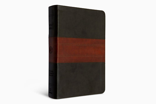 ESV Large Print Personal Size Bible TruTone®, Forest/Tan, Trail Design