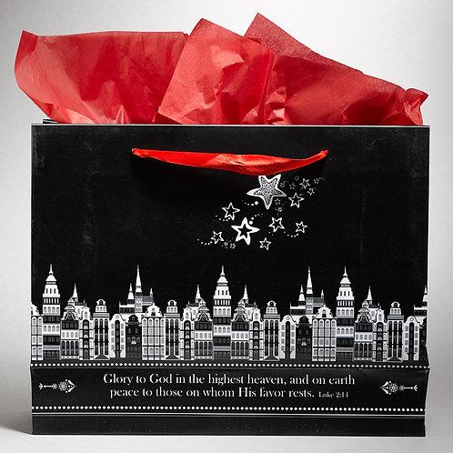 May God Bless You Christmas Gift Bag Large