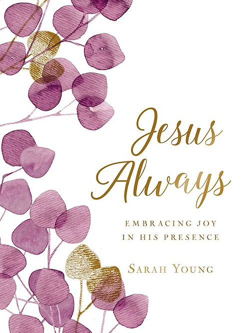 Jesus Always Large Print Hard Cover Floral by Sarah Young