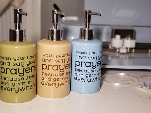 Wash Your Hands Ceramic Soap Dispenser
